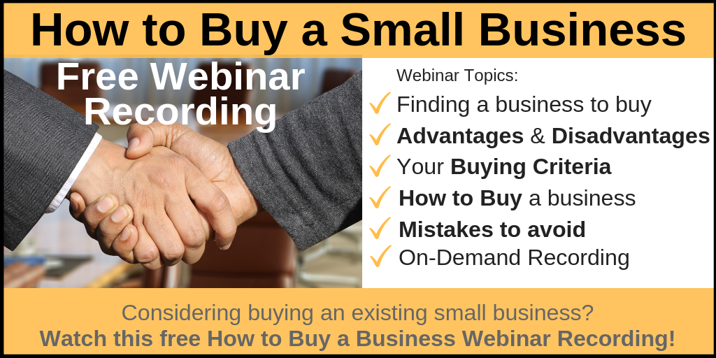 How to Buy a Small Business Webinar Recording