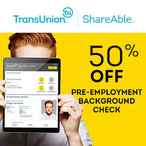 TransUnion ShareAble for Hires - Employment Background Checks for Small Business